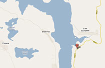 Googlemap of our accommodation on Shetland